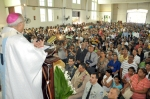 También autoridades civiles y militares asistieron a la eucaristía.