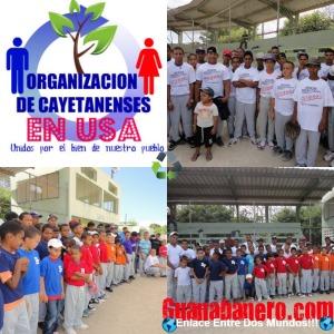 Uniformes Donados por La Organización de Cayetanenses en USA